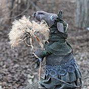 handmade. Livemaster - original item Rat and dandelion Collectible doll. Handmade.