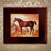 Картины и панно ручной работы. Ярмарка Мастеров - ручная работа Оформленная картина с лошадью, в технике акварель. Handmade.