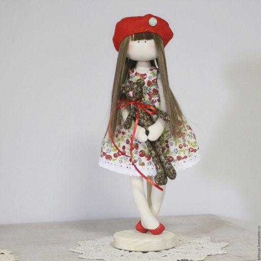 Куклы Тильды ручной работы. Ярмарка Мастеров - ручная работа. Купить Кукла Ягодка. Handmade. Ярко-красный, кукла интерьерная