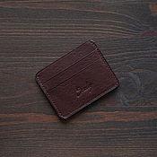 Сумки и аксессуары handmade. Livemaster - original item Cardholder Brown Minerva Box. Handmade.