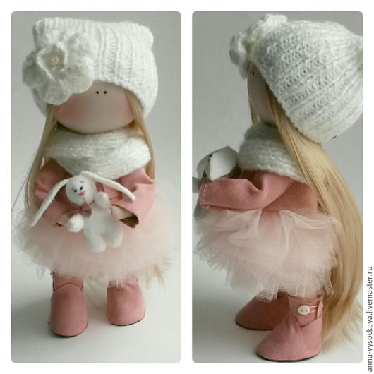 Коллекционные куклы ручной работы. Ярмарка Мастеров - ручная работа. Купить Интерьерная кукла. Handmade. Розовый, кукла в подарок, тильда
