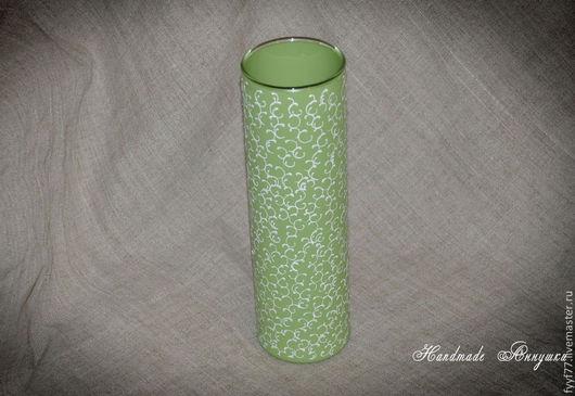 """Вазы ручной работы. Ярмарка Мастеров - ручная работа. Купить Стеклянная ваза """"Зелень"""". Handmade. Ярко-зелёный, вазочка"""