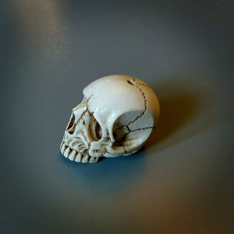Бусина для браслета череп