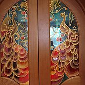 Дизайн и реклама ручной работы. Ярмарка Мастеров - ручная работа роспись арочных дверей. Handmade.