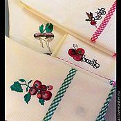 """Для дома и интерьера ручной работы. Ярмарка Мастеров - ручная работа Кухонные полотенчики """" Овощные"""". Handmade."""