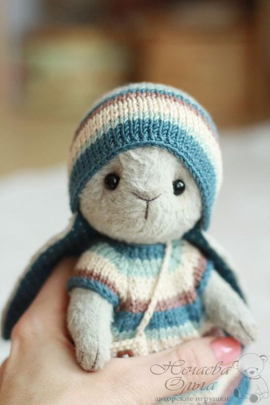 Мишки Тедди ручной работы. Ярмарка Мастеров - ручная работа. Купить Мишель (17 см). Handmade. Серо-голубой