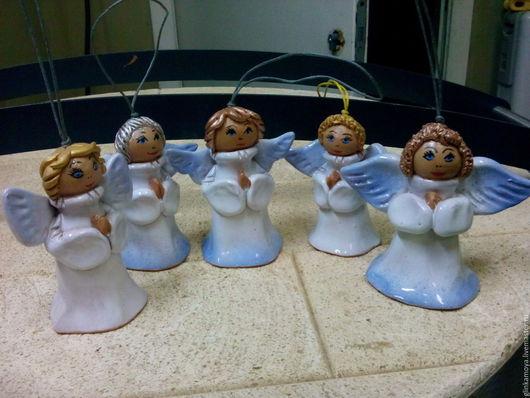 Колокольчики ручной работы. Ярмарка Мастеров - ручная работа. Купить Ангелочки. Handmade. Разноцветный, глина, ангелочек, подарок на любой случай