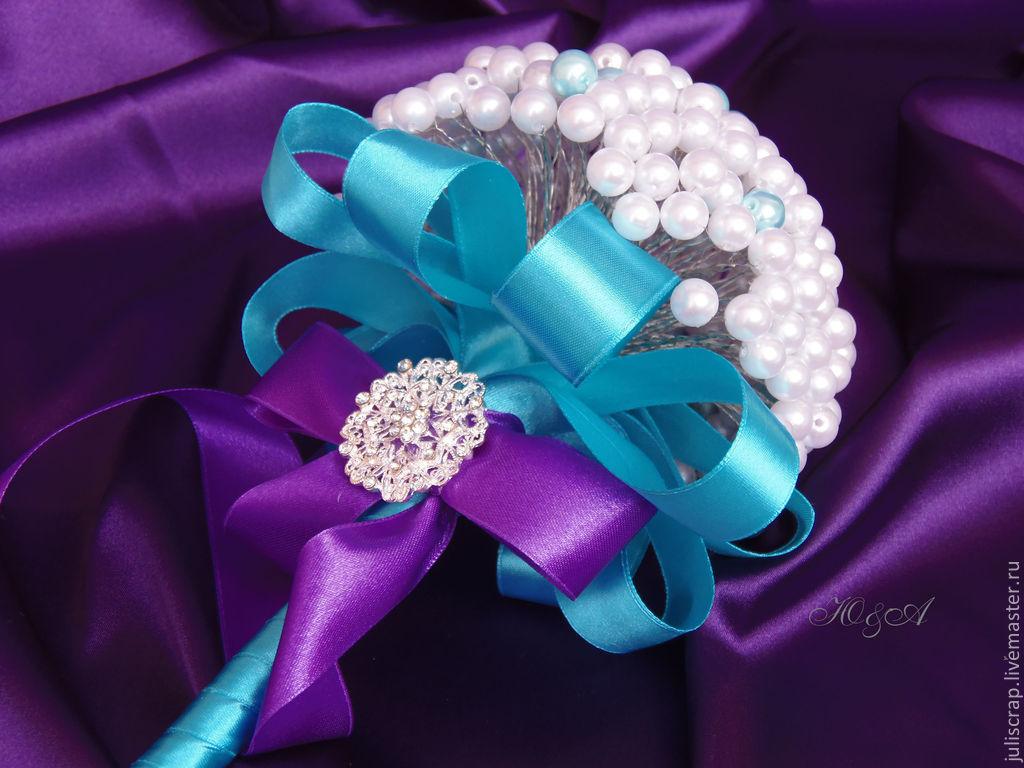 Свадебный букет из бусин своими руками, цветы