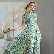 Одежда handmade. Livemaster - original item Sunflowers maxi Dress. Handmade.