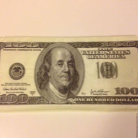 Салфетка для декупажа- 100 долларов  США! Декупажная радость
