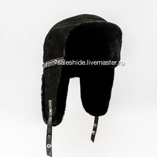 Шапки ручной работы. Ярмарка Мастеров - ручная работа. Купить Меховая шапка ушанка Пилот из меха овчины и замши. Handmade.