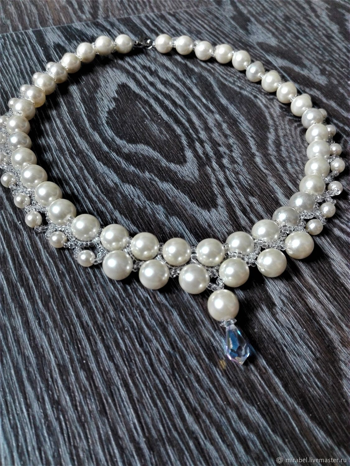 be25f42b91d45 Necklaces & Beads handmade. Livemaster - handmade. Buy Beaded decoration.  Necklace with pearls ...