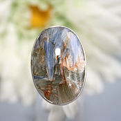 Украшения handmade. Livemaster - original item ring with kyanite. Silver. Handmade.