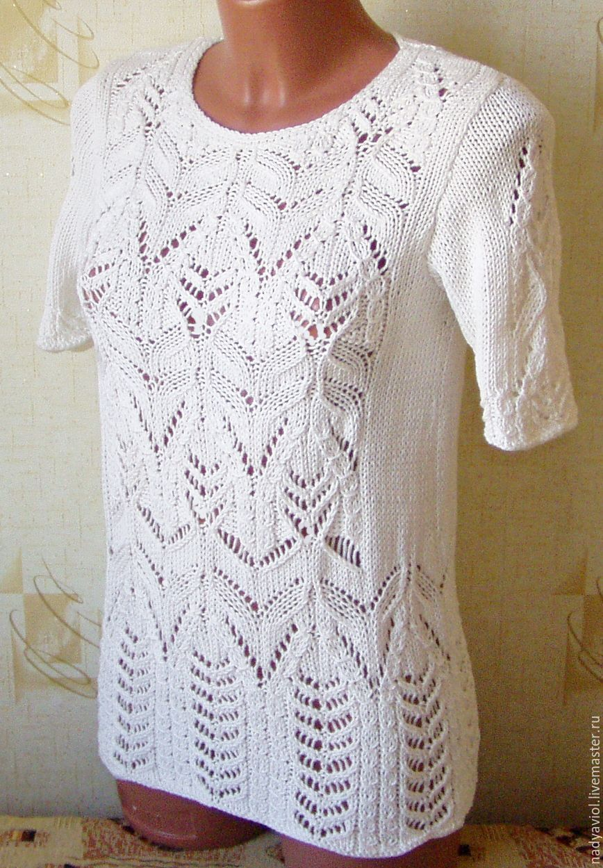 """blouse made of cotton""""White irises"""", Jumpers, Severodvinsk,  Фото №1"""