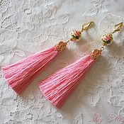 "Украшения handmade. Livemaster - original item Long earrings ""Russian beauty"". Handmade."