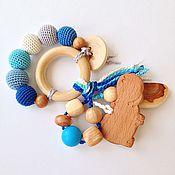 Куклы и игрушки ручной работы. Ярмарка Мастеров - ручная работа Игрушка для малыша можжевеловый грызунок-погремушка. Handmade.