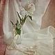 Фотокартины ручной работы. Ярмарка Мастеров - ручная работа. Купить натюрморт пион с жемчугом. Handmade. Кремовый, розовый, белый, пион