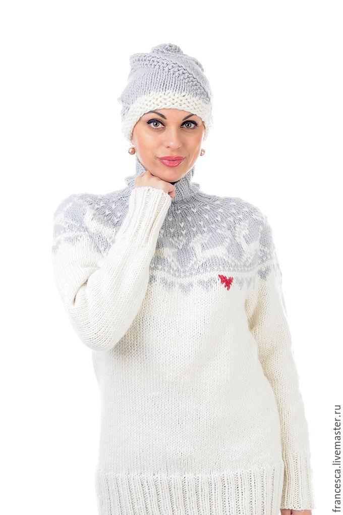 Водолазка Женская Белая Шерсть Купить