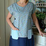 Одежда ручной работы. Ярмарка Мастеров - ручная работа Платье домашнее голубое. Handmade.