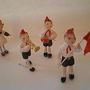 Куклы и игрушки ручной работы. Ярмарка Мастеров - ручная работа Елочные игрушки из ваты. Handmade.
