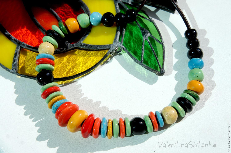 Ceramic beads 'Summer', Necklace, Severobaikalsk,  Фото №1