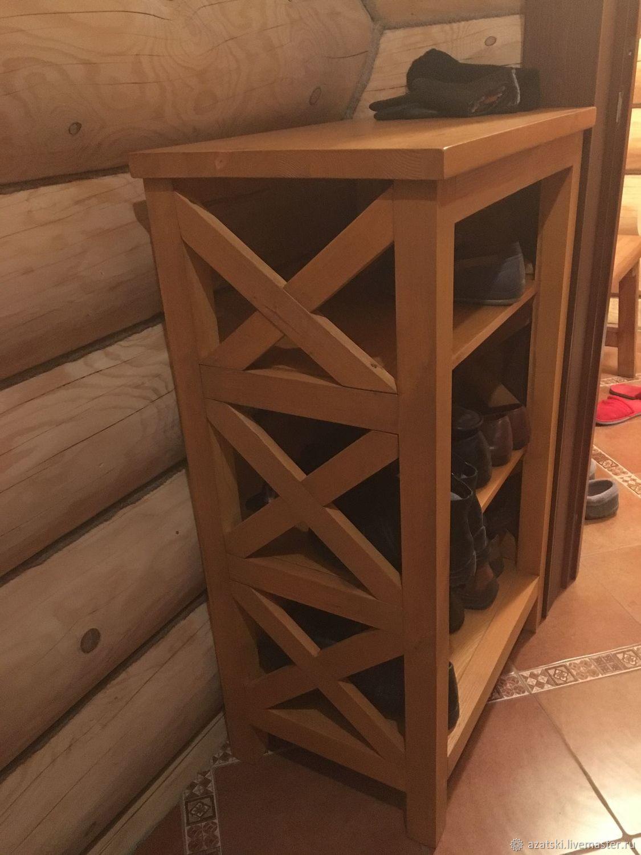 Стеллаж обувница из массива сосны, Комоды, Санкт-Петербург,  Фото №1