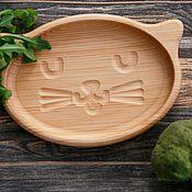 Plates handmade. Livemaster - original item Children`s wooden plate