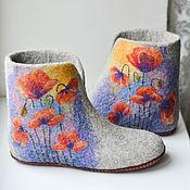 """Обувь ручной работы. Ярмарка Мастеров - ручная работа Чуни """" Маки"""". Handmade."""