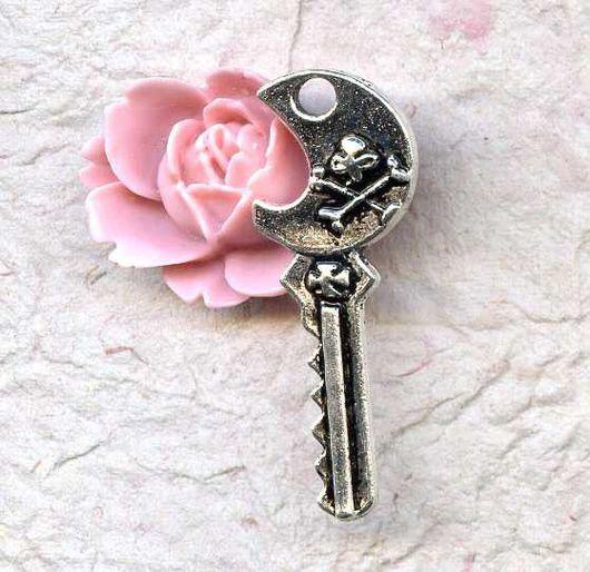 Для украшений ручной работы. Ярмарка Мастеров - ручная работа. Купить Подвеска Пиратский ключ. Handmade. Подвеска
