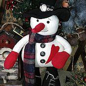 Снеговики ручной работы. Ярмарка Мастеров - ручная работа Снеговик Джон. Handmade.