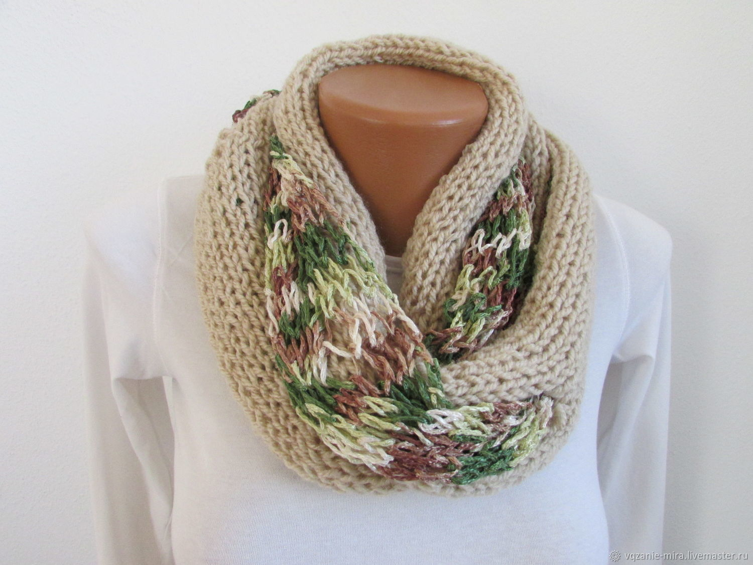 Women's knitted scarf acrylic viscose cotton summer spring scarf, Scarves, ,  Фото №1