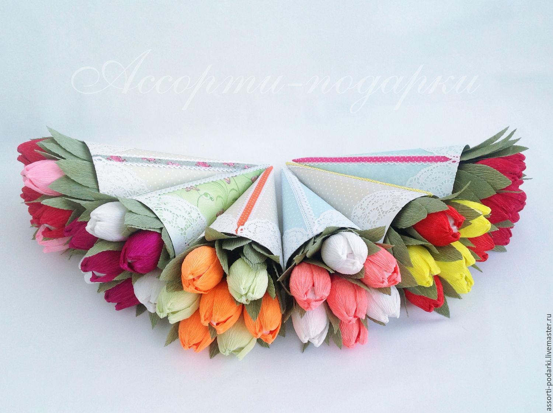 Букеты тюльпаны из бумаги своими руками