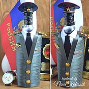 Сувениры и подарки handmade. Livemaster - original item A gift for a military man. The design of the gift bottle. Handmade.