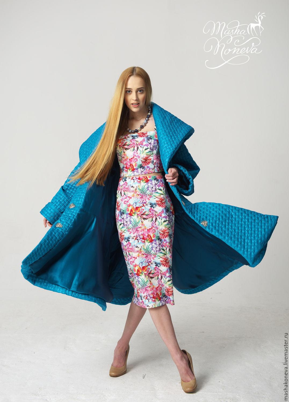 Пальто стеганое купить Москва