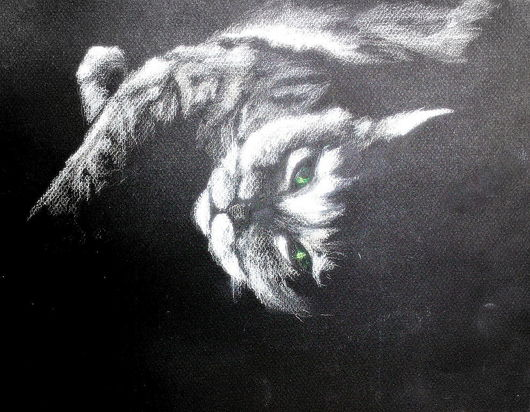 """Животные ручной работы. Ярмарка Мастеров - ручная работа. Купить Картина """"Блаженная мурлыка"""". Handmade. Кошка, пастель, картина пастелью"""