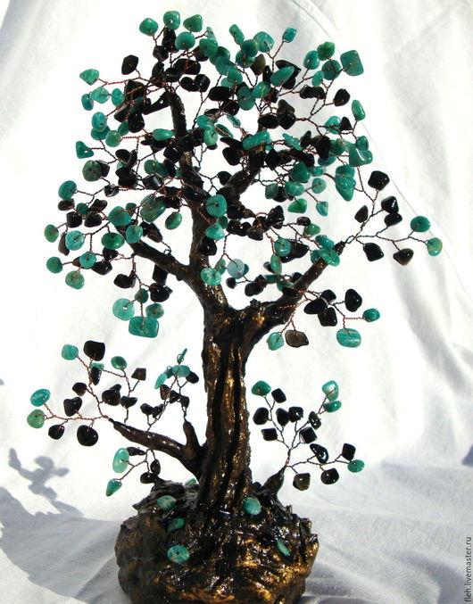 Деревья ручной работы. Ярмарка Мастеров - ручная работа. Купить Дерево счастья.. Handmade. Морская волна, фен-шуй, для дома