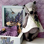 Мягкие игрушки ручной работы. Ярмарка Мастеров - ручная работа Полин 20.5 см, платья, брошь, шкатулка. Handmade.
