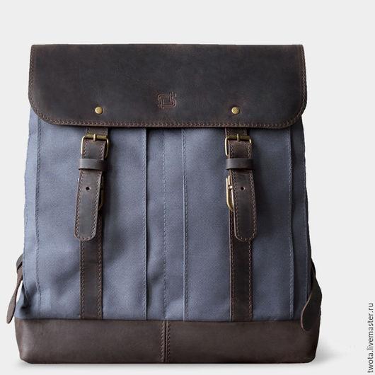 """Мужские сумки ручной работы. Ярмарка Мастеров - ручная работа. Купить Рюкзак """"William"""". Handmade. Рюкзак, сумка, текстиль"""