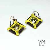 Украшения handmade. Livemaster - original item Earrings Lemon chocolate. Handmade.