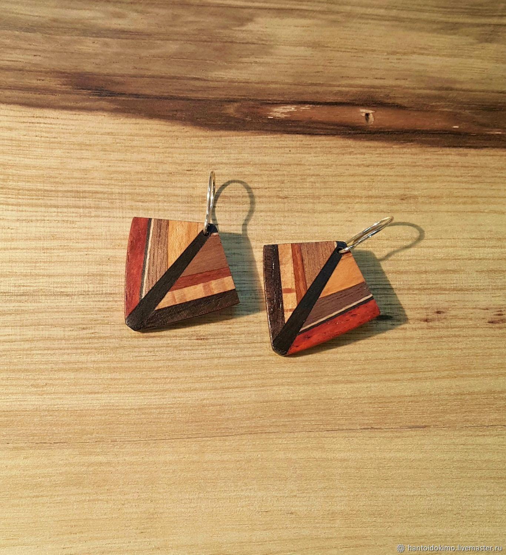 38a1e2db419339 Earrings handmade. Livemaster - handmade. Buy Wooden earrings small earrings  summer boho earrings.