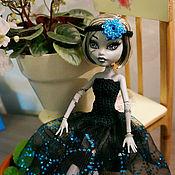 Куклы и игрушки ручной работы. Ярмарка Мастеров - ручная работа Вечерние черные платья Monster High (МонстрХай). Handmade.