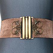 Аксессуары handmade. Livemaster - original item Belt-elastic band Cocoa height 75mm decor Bird 2, etc belt height. Handmade.