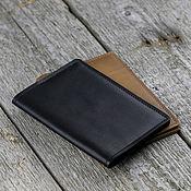 Сумки и аксессуары handmade. Livemaster - original item Genuine leather passport cover with card slots. Handmade.
