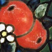Тарелки ручной работы. Ярмарка Мастеров - ручная работа Тарелка «Витражные яблочки». Handmade.