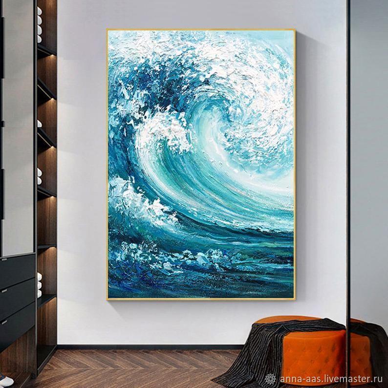 Картины морские волны Масляная живопись на холсте, Картины, Санкт-Петербург,  Фото №1
