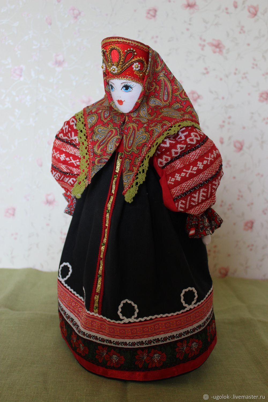 Текстильная кукла в костюме Смоленской губернии, Народная кукла, Углич,  Фото №1