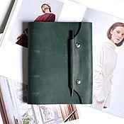Канцелярские товары handmade. Livemaster - original item Leather notebook A5 ring is made of genuine leather Crazy Horse. Handmade.