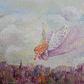 """Картины и панно ручной работы. Ярмарка Мастеров - ручная работа """"Ангел над городом"""" картина маслом. Handmade."""