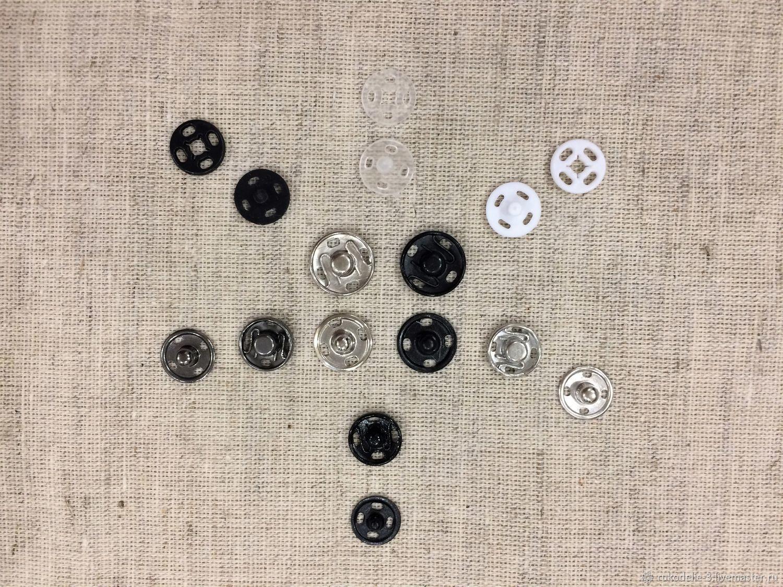Кнопки пришивные 10-12мм №5 металл и пластик, Материалы, Балашиха, Фото №1