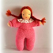 Куклы и игрушки ручной работы. Ярмарка Мастеров - ручная работа Вальдорфская игровая куколка (в комбинезончике). Handmade.